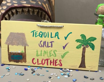 Valentine's Day Alcohol Gifts, Tequila Gifts, Gifts for Tequila Lovers, Tequila Drinker Gifts, Tequila Sign, Tequila Decor, Tiki Bar Decor
