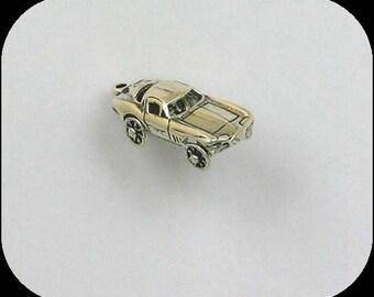 Sterling Silver 3-D Movable Corvette Charm