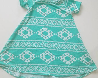 Teal swing dress