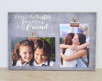 Christmas Gift For Sister, Sister Picture Frame, Personalized Sisters Gift, Custom Photo Frame  {Forever My Friend}  Girl Bedroom Decor