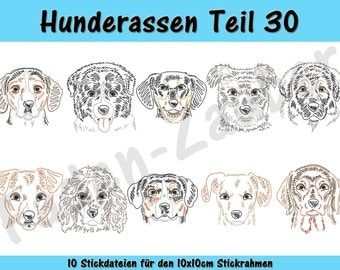 Dog breeds part 30 - embroidery-set for the border 10x10cm