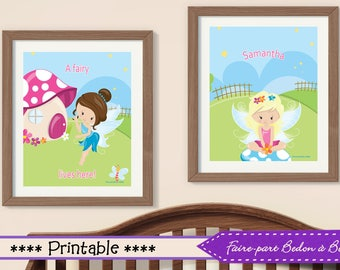 Fairy nursery wall art, Fairy decor nursery,  little girl bedroom Fairy posters, Fairy decor