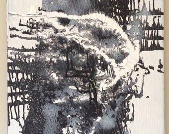 SALE Monochrome Art Black White Canvas Acrylic Original Art Abstract Painting Minimalist Art Textured Painting Black White Art 16 x 20 canva