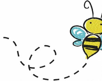 Bee Embroidery Design File .vip .vp3 .hus .pes .pec .jef .sew .xxx .csd .dst .exp .emd .10o .pcs .pcm and More Machine Embroidery