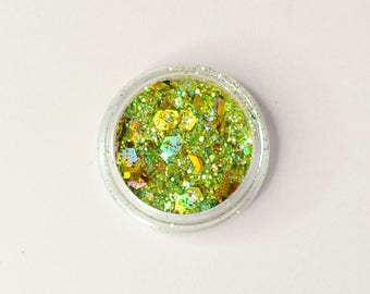 Lime Soda, Green and Gold Body Glitter