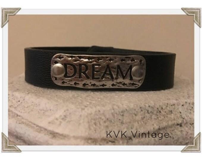 DREAM - Burnished Boho Faux Leather Bracelet