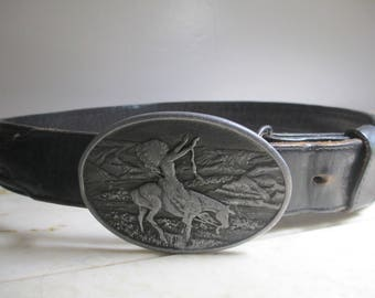 Cowboy Belt and Buckle