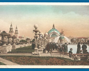Vintage Postcard - The South Garden at the Panama Pacific International Exposition 1915 in San Francisco California (2639)