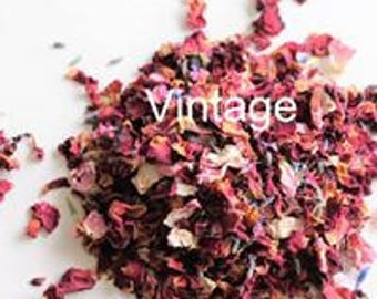 Confetti Natural Eco Biodegradable Petals Pinks Reds Blues Cornflowers Vintage Mix Throwing Wedding Pot Pourri Crafter Soaps Candles