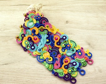 made to order - Beautiful soutache bracelet