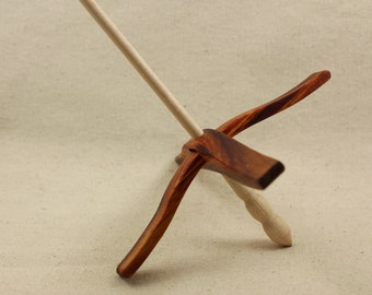 Canary wood Glider Turkish Drop Spindle (3/19/1)