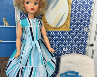 Adult collectors Retro dress for Tammy or 60s Sindy.