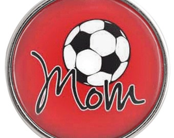 C1032  Art Glass Print Chunk - Soccer Mom