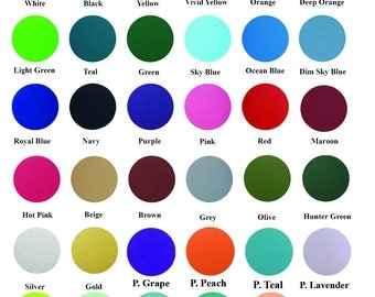 """Wholesale 12"""" x 20"""" Heat Transfer Vinyl - 40 colors to choose from **Combine Shipping Discount**"""