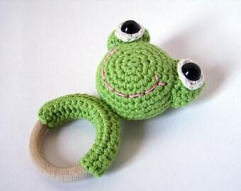 Teething Ring Wool The Frog