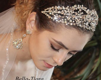 swarovski crystal headband, crystal wedding headband, crystal bridal headband, wedding headpiece, crystal bridal headpiece