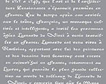Americana Decor Stencils - Old French Script
