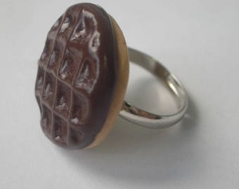 POLYMER CLAY CHOCOLATE CAKE RING