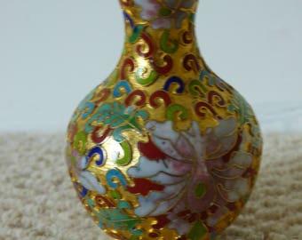 Mini Open Cloisonne Chinese Vase
