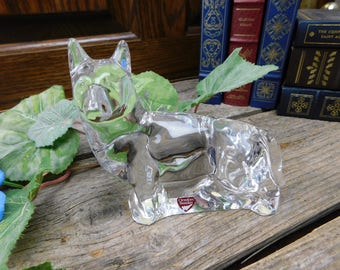 Vintage Crystal Orrefors Sweden Dog – German Shepherd
