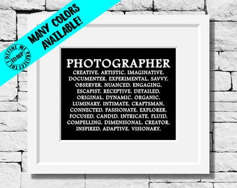 Photographer Gifts, Photographer Print, Photography Quote, Photography Print, Photographer, Photog Quote, Photographer Gift,Photography