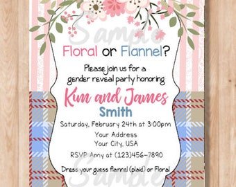 Floral or Flannel (Digital File Only!!)