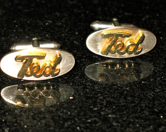 Ted Cuff Links from Swank Named Personalized Cuff Links