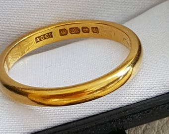 22ct Solid Gold Band 1930