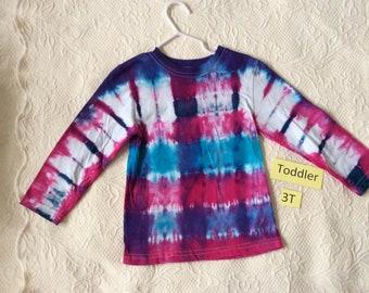 Toddler 3T Multi-Color Long Sleeve Tie Dye T-Shirt