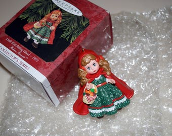 Madame Alexander Little Red Riding Hood Hallmark Keepsake Ornament 1991 Christmas Holiday Collector's Series