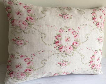 Cushion COVER  in Peony & Sage MATHILDE linen fabric  50 x 35