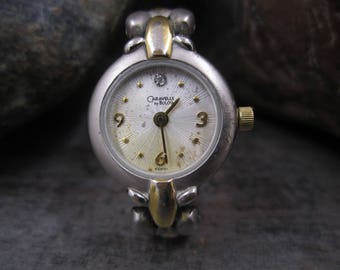 Vintage Caravelle by Bulova silver & gold tone watch