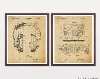 STEREO HI FI - Turntable Patent - Headphones - Record Player - Music Poster - Music Patent - Vinyl Art - Vinyl Patent - Record Player Patent