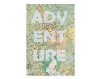 Print ADVENTURE Russia Soviet Union atlas A4
