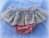 Soft Bloomers Photography Prop Lace Baby Bloomers Nappy Cover Diaper Cover Baby Shower Ruffle Photo Velvet Cake Smash Birthday Handmade Boho
