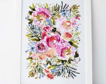 Fuchsia Blooms - Fine Art Print