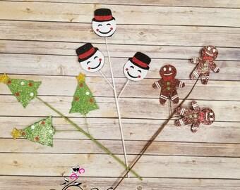 christmas picks christmas tree gingerbread snowman christmas picks - Christmas Tree Picks