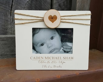 Baby Picture Frame - Ultrasound Picture Frame - Baby Gift - Birth Stat Frame - Newborn Picture Frame - 4 x 6 Frame