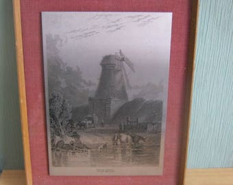 Vintage 1970's Framed Omicways Ltd Etched Stainless Steel Picture