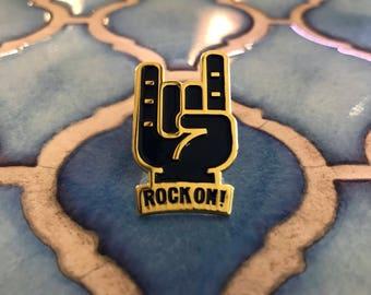 Rock On! Enamel Pin