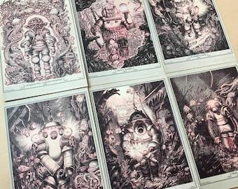 Diving Armors - 6 postcards set