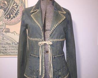 Blanc Noir Kharma jean jacket