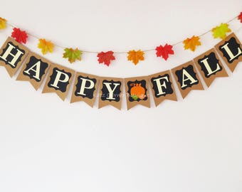 Happy fall banner, chalkboard fall home decoration, Happy fall y'all, harvest, pumpkin party