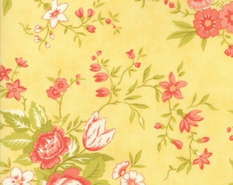 Ella and Ollie 20300-12, Apricot, Fig Tree and Co., Moda Fabrics, Floral Fabric