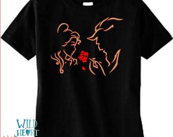 Belle and Beast Shirt, Beauty and the Beast Shirt, Enchanted Rose, Beauty and the Beast, Tale as Old as Time, Disney Shirt, Princess Belle