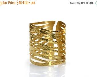 SUMMER SALE - Zebra bracelet,gold bracelet,gold cuff,handmade bracelet,wow bracelet,statement bracelet,antique bracelet