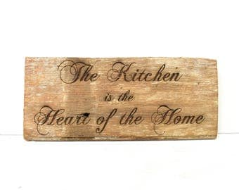 Heart of the Home Barnwood Sign