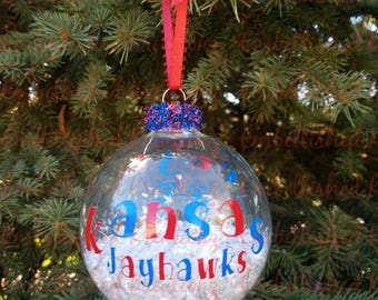 Christmas 2017/'Kansas Jayhawks' with Jayhawk/RCJH and 2017 Ornament/KU 2017 Christmas Ornament