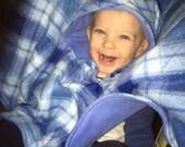 car seat poncho - carseat poncho - plaid carseat poncho - fleece poncho - wearable blanket - car seat blanket - toddler poncho - baby poncho