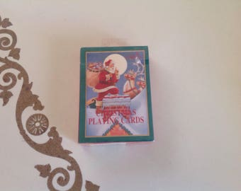 Vintage Gibson Deck of Christmas Playing Cards